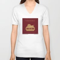 apocalypse now V-neck T-shirts featuring No006 My Apocalypse Now minimal movie poster by Chungkong