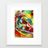 karma Framed Art Prints featuring karma by sylvie demers