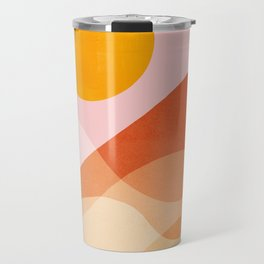 Abstraction_Mountains_SUN_Beach_Ocean_Minimalism_001 Travel Mug