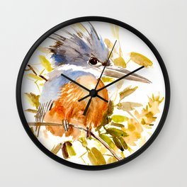 Belted Kingfisher home decor Wall Clock