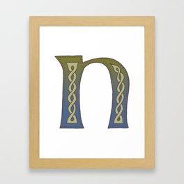 Celtic Knotwork Alphabet - Letter N Framed Art Print