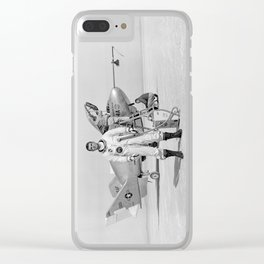X-24A on Lakebed Clear iPhone Case