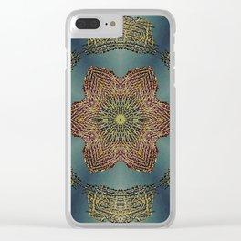 Purple Sea Fan Mandala Clear iPhone Case