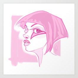 Bowie's Girl Art Print