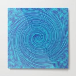 Blue spiral Metal Print