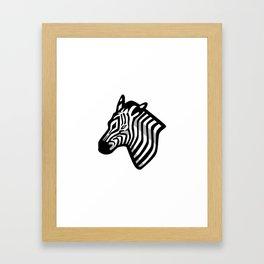 Zebra Head Mascot Framed Art Print