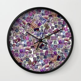 The World in Purple Wall Clock
