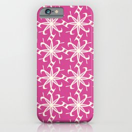 Abstract Floral Lattice Pattern iPhone Case