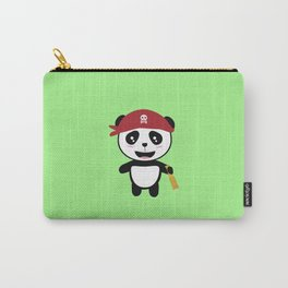 Panda Pirate with spyglass T-Shirt Di5wy Carry-All Pouch
