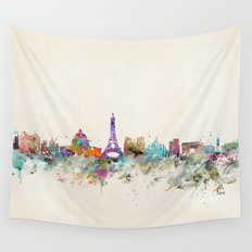 Paris city skyline  Wall Tapestry