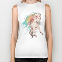 okami Biker Tanks featuring OKAMI SHIRANUI by Morguesque