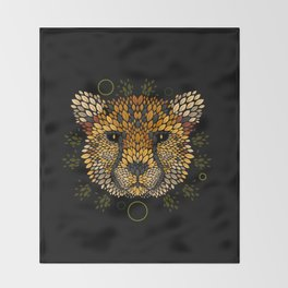 Cheetah Face Throw Blanket