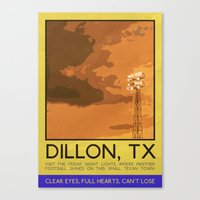 friday night lights Canvas Prints featuring Silver Screen Tourism: DILLON, TX / FRIDAY NIGHT LIGHTS by Stone Heart Media