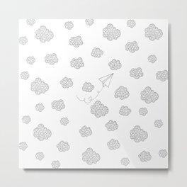paper airplane Metal Print