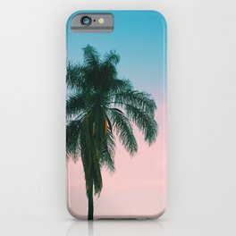 Pastel Sky Palm Tree - Los Angeles, California iPhone Case