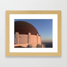 observing l.a. Framed Art Print