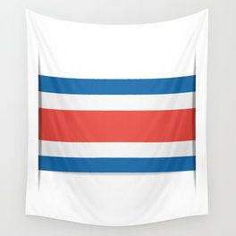 Flag of Costa Rica. The slit in the paper with shadows. Wall Tapestry
