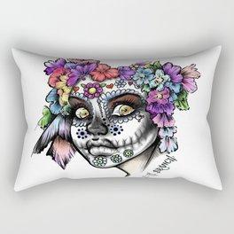 Sugar Skull Girl Rectangular Pillow
