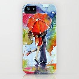 Under the red umbrella iPhone Case