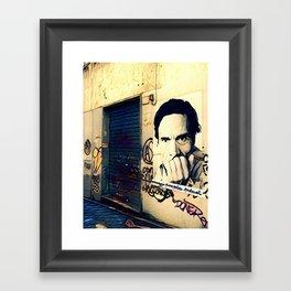 Street Art Pasolini in Rome Framed Art Print