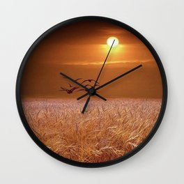 bird and yellow Wall Clock