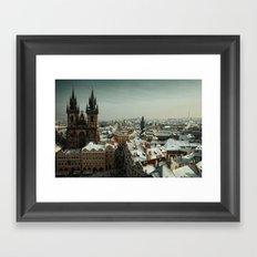 Prague never lets you go Framed Art Print