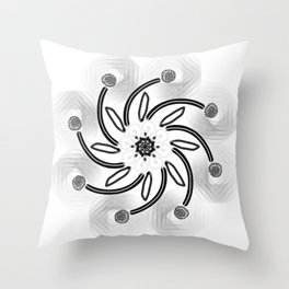 Spiral Star Throw Pillow
