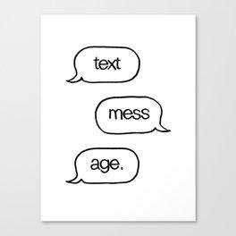 Text Message Hand Drawn Pop Art Print Canvas Print