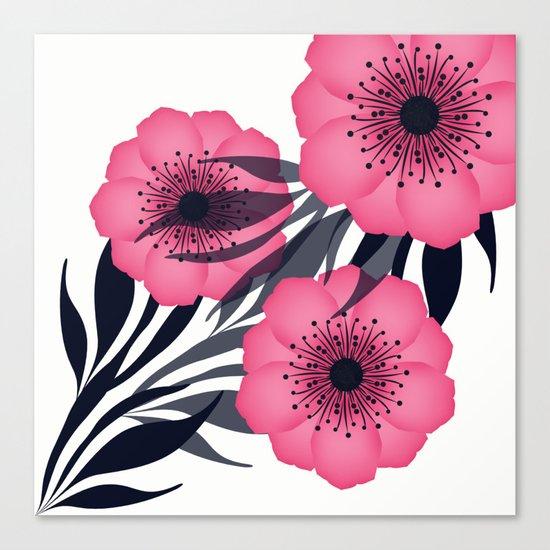 Pink flowers. Canvas Print