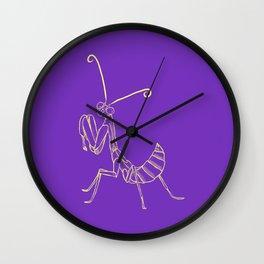 Feeler solo purple Wall Clock
