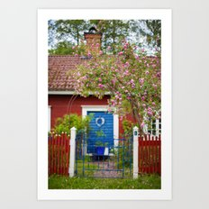 The Cottage. Art Print