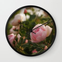 Amazing Romantic Bouquet Pink Rose Blossoms Close Up Ultra HD Wall Clock