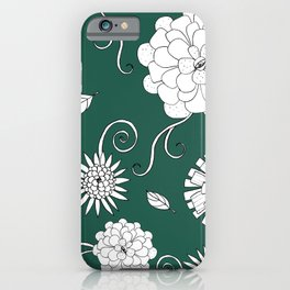 Sweet daisies on racing green iPhone Case