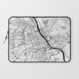 Warsaw Map Gray Laptop Sleeve