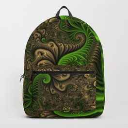 Fantasy World II, Abstract Fractal Art Backpack