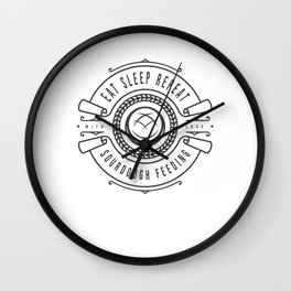 baking baker bakery baker's shop craft bread Wall Clock