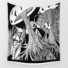 Growth Patterns (Contrast Variant) Wall Tapestry