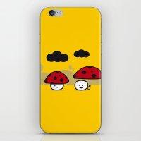 mushroom iPhone & iPod Skins featuring Mushroom by pludadesign