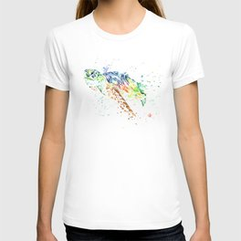Sea Turtle Colorful Watercolor Painting T-shirt