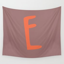 The Letter E Brush Typography Wall Tapestry