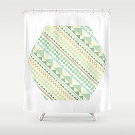 Textile Hexagon Shower Curtain