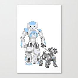 The Dog Walker. (Blue) Canvas Print