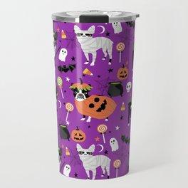 Boston Terrier Halloween - dog, dogs, dog breed, dog costume, cosplay cute dog Travel Mug