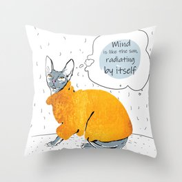 Gold Cat - North-Central Throw Pillow