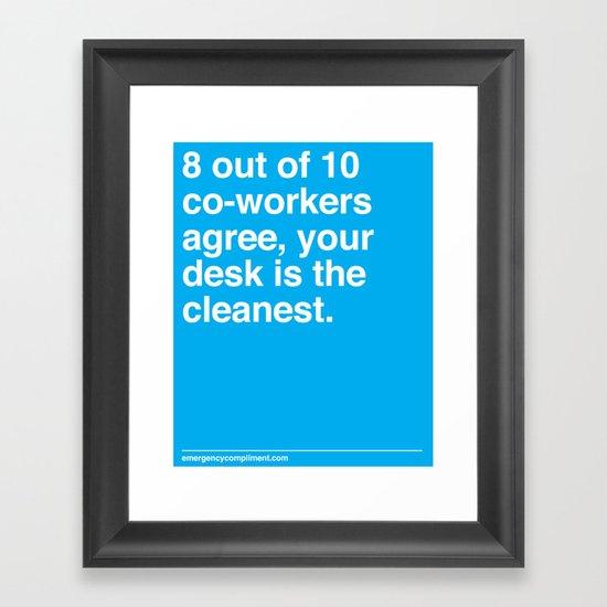 Cleanest Desk Framed Art Print