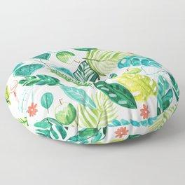 Tropical Monstera Maracas Floor Pillow