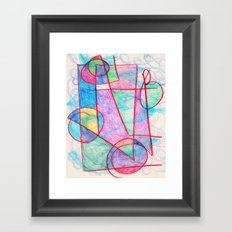 Pinks and Blues Framed Art Print