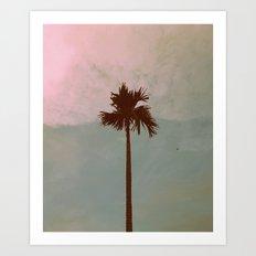 Palm Tree (vintage) Art Print