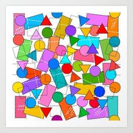 Digital Patchwork Art Print