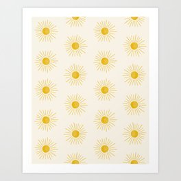 Sunshine Pattern Art Print